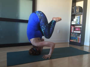 tripod headstand from crow