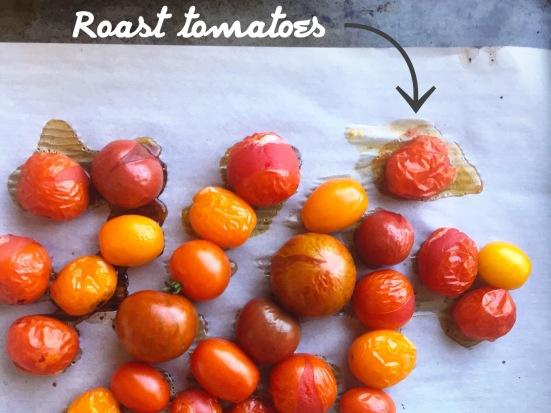 roasted tomatoes for polenta